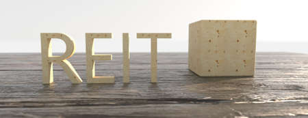 Concept image of Business Acronym REIT as Real Estate Investment Trust. 3d illustration Stock fotó