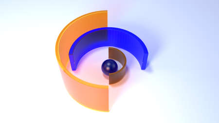 Abstract background. Geometry color glass shapes. 3d render