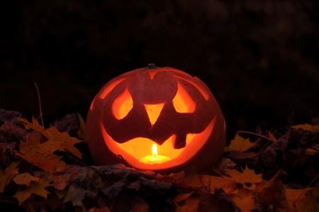 horrific: Horrific halloween pumpkin. Stock Photo