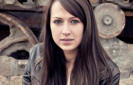 Pretty caucasian brunette photo