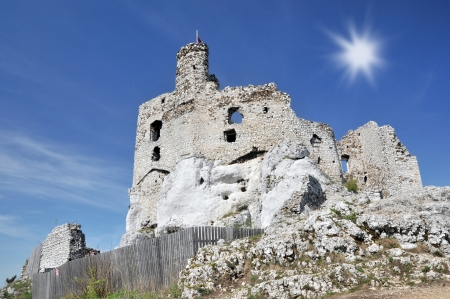 mirow: Medieval castle- Mirow in Poland