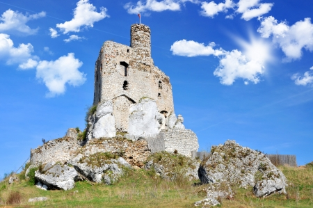 Ruins of medieval castle- Mirow in Poland photo