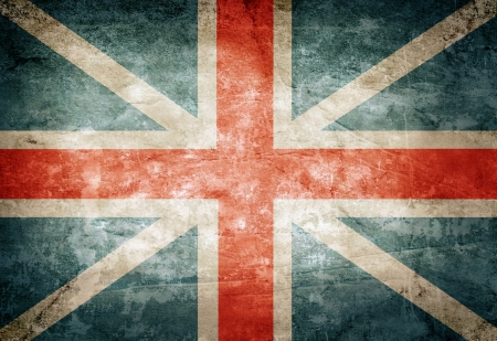 british flag: Old grunge Great Britain flag on vintage paper Stock Photo