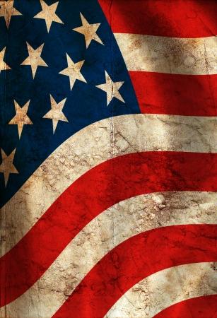 banderas america: Fondo del estilo de EE.UU. pintado en la pared del grunge