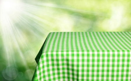Empty checkered tabletop for product display montages photo