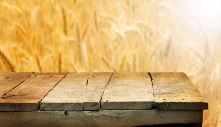 corn flour: Empty wooden table for product display montages