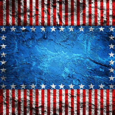 USA style background painted on grunge wall photo