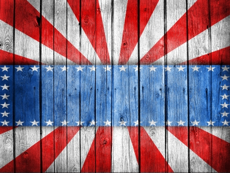 north american: USA style background painted on wooden wall Stock Photo