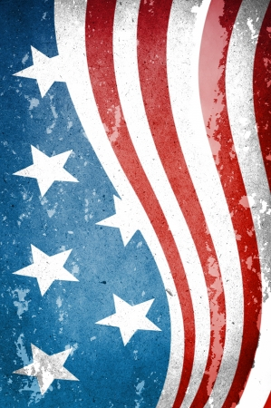 USA style background on old grunge paper photo