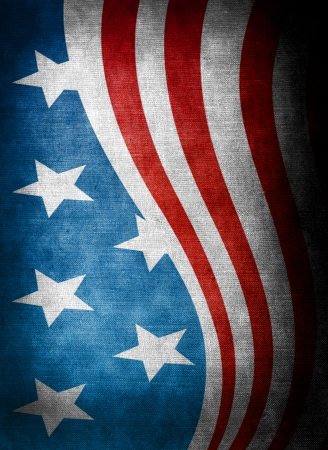 USA style background on old grunge canvas