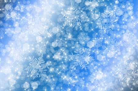 blue christmas background with bokeh circles and white snowflakes stock photo 22416828 - Christmas Blue