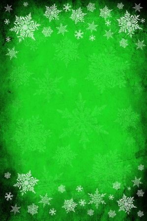 Grunge green paper background or texture - christmas theme photo