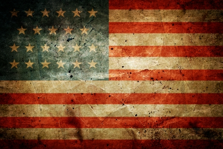 Grunge dirty flag of United States of America Stock Photo