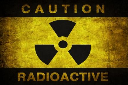 radioactive sign: Radioactive sign - grunge dirty wall