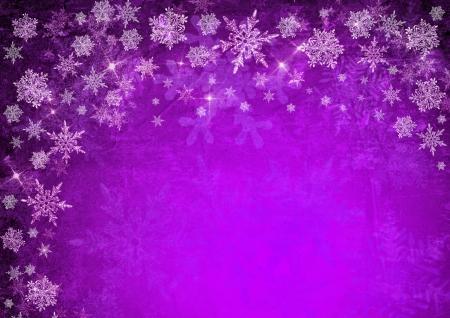 estrellas moradas: navidad de fondo p�rpura con copos de nieve