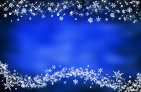 christmas postcard: blue christmas background