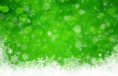green and gold: green christmas background