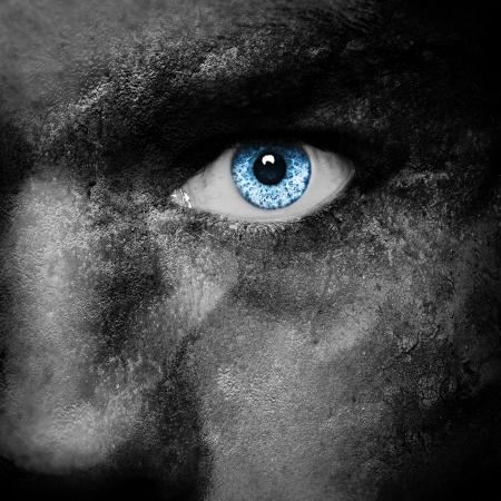 Vampire face - dark portrait Stock Photo