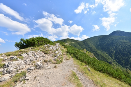 Summer landscape of polish Tatry mountains photo