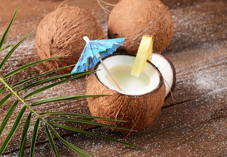 malibu: Malibu drink in coconut