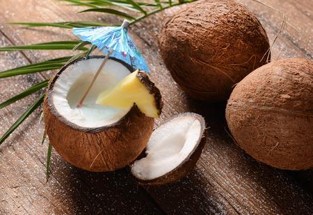 tropicana: Malibu drink in coconut