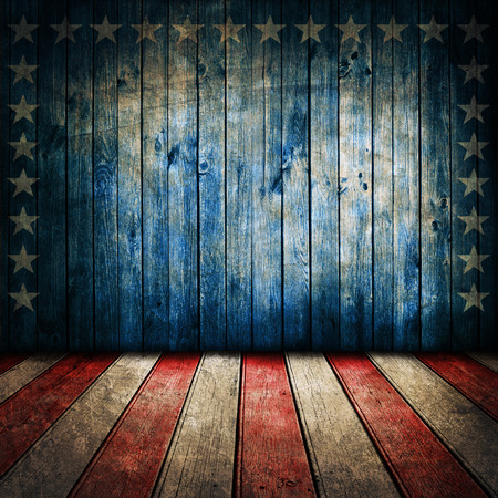 stars and stripes: Vintage USA style background Stock Photo