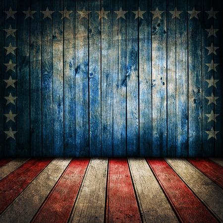 patriotic border: Vintage USA style background Stock Photo