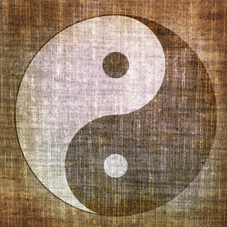 Grunge yin yang symbol  photo