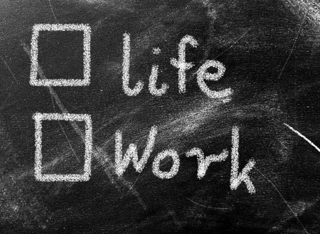 Business concept - work or life photo