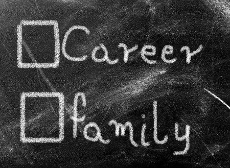 Business concept - career or family photo