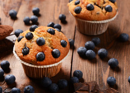 blueberry muffin: Muffins with blueberries