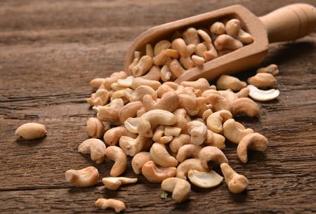 cashew nuts: cashew nuts with salt Stock Photo