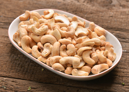 cashew nuts with salt Stock Photo