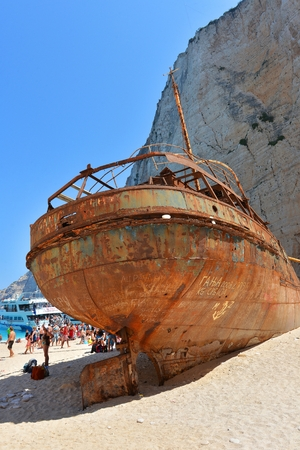 Smugglers shipwreck in Navagio beech, Zakynthos