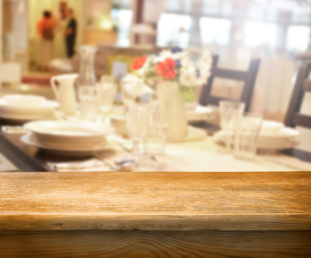 empty table for product display montages Stock Photo