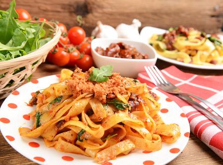 pasta with red pesto photo
