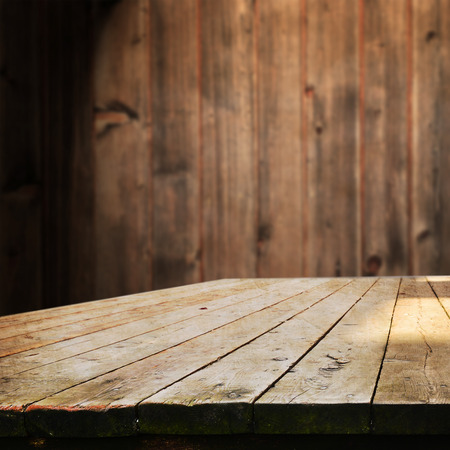 제품 표시 몽타주 빈 테이블