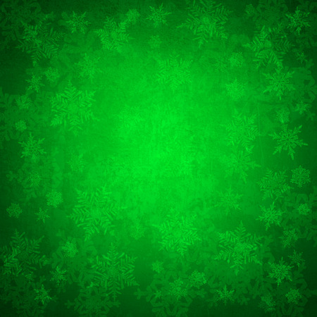 iceflower: Green christmas background
