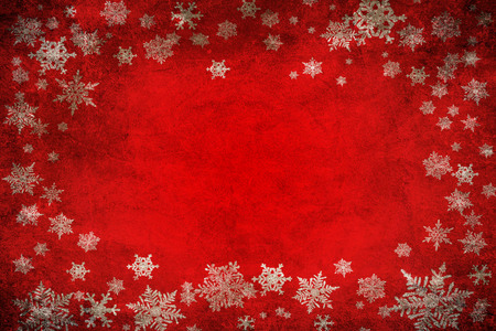 december background: Red christmas background with snowflakes
