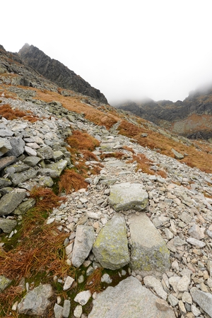 mnich: autumn in Tatra mountains - Poland Stock Photo