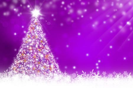 morado: Fondo p�rpura de la Navidad Foto de archivo