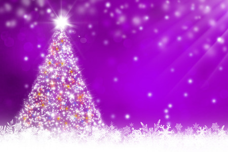 purple stars: Purple christmas background
