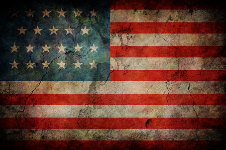 tattered: Grunge USA Flag Stock Photo