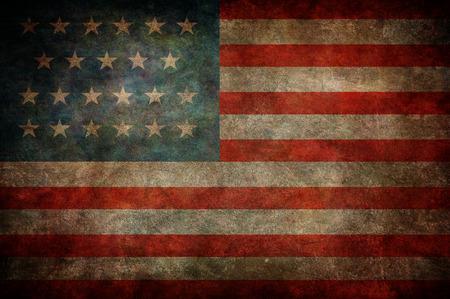 national flag: Grunge USA Flag Stock Photo