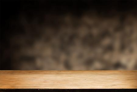 디스플레이 몽타주를위한 빈 테이블 스톡 콘텐츠