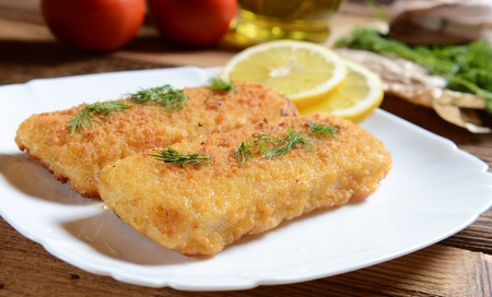 crust crusty: Fish fillets with chese