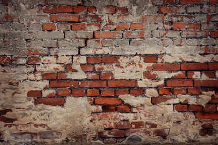 retro revival: old brick wall background Stock Photo