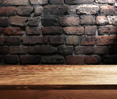 mesa vacía para la exhibición de productos, onatges Foto de archivo
