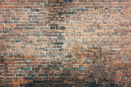 brown white: old brick wall background Stock Photo