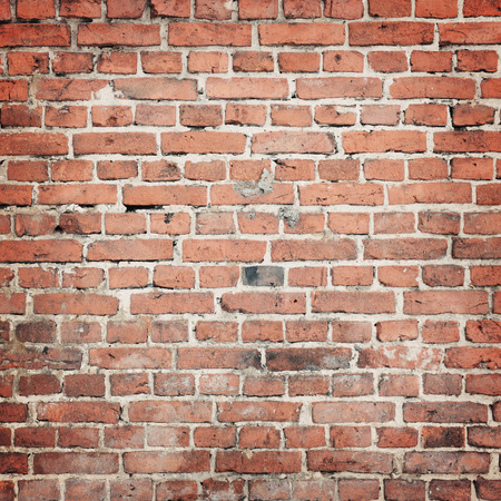 red wall: old brick wall background Stock Photo